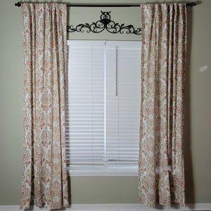 """ENVOGUE Curtains set two panels 92"""" terracota"""